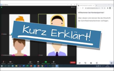 Kurz Erklärt! – Mitschrift und Videokonferenz auf einem Bildschirm anordnen